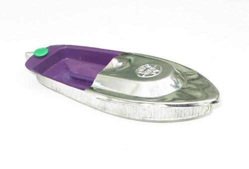 Avon Pop Pop Boat - Purple & Silver with Rudder.