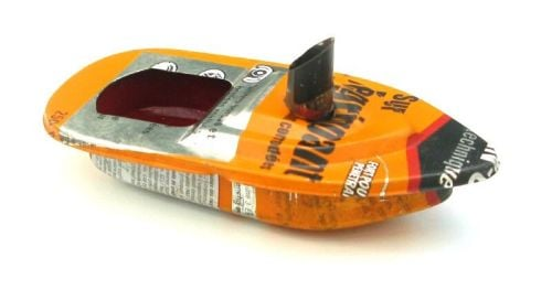 Mini - Funnel Pop Pop Boat - Recycled Tin.
