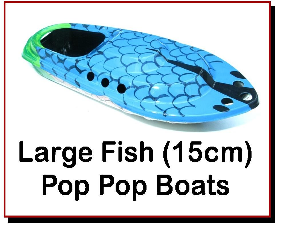 <!-- 0604 -->Large Fish - Painted Pop Pop Boats