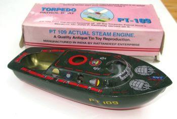 "PT 109 Torpedo Boat, Pop Pop Boat - a huge 9"" (23cm) long."