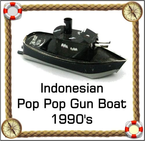 Indonesian Gun Boat -  Pop Pop Boat.