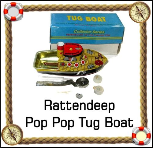Pop Pop Tug boat. Lithographed.