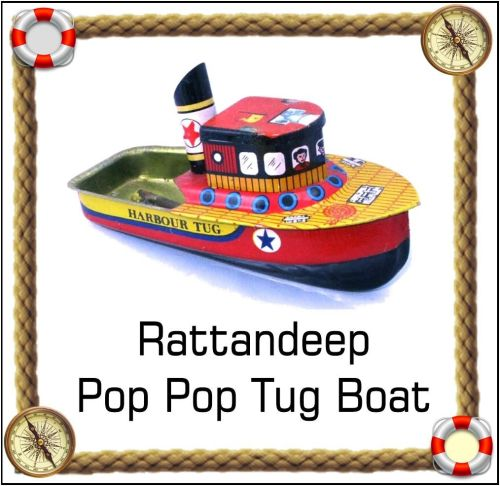 Pop Pop Harbour Tug boat. Lithographed.