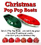 Christmas Pop Pop Boats x 2 - One Red and One Green