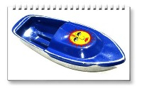 <!-- 0607 -->Sun - Hand Painted Pop Pop Boats