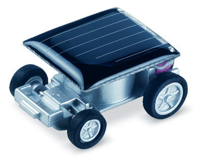 Worlds Smallest Solar Powered Toy Car.