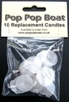 10 pop pop boat candles..