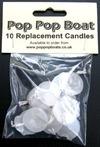 10 pop pop boat candles..