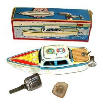 German Motorloses Puff-Puff Boat