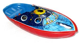 Penguin Pop Pop Boat 1940's.