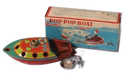 F8 Pop Pop Boat 1950's.