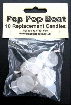 10 Pop Pop Boat Replacement Candles.