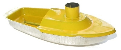 Chimney Pop Pop Boat. Yellow.