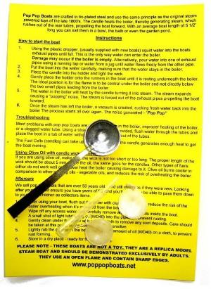 pop pop boat instructions