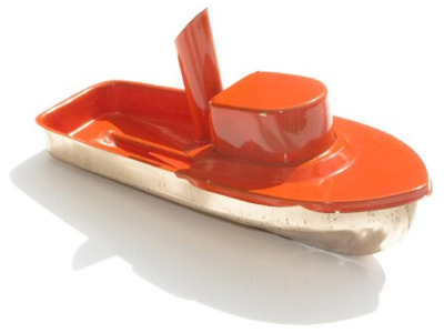 Jumbo Pop Pop Tug Boat - Orange.