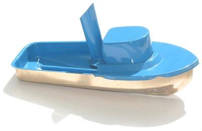 Jumbo Pop Pop Tug Boat - Sky Blue.