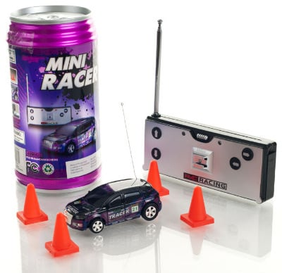 Mini Radio Controlled Car in a Can. Purple.