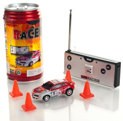 Mini Radio Controlled Car in a Can. Red.