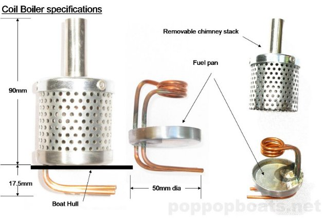 coil boiler specifications