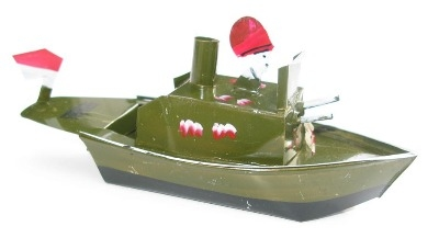 Indonesian Pop Pop Gun Boat - Dark Green.
