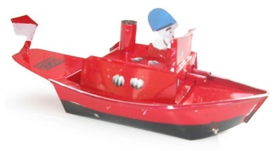 Indonesian Pop Pop Gun Boat - Red.