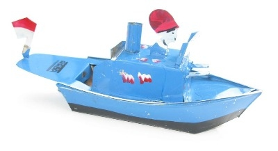 Indonesian Pop Pop Gun Boat - Sky Blue.