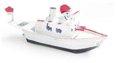 Indonesian Pop Pop Gun Boat - White.