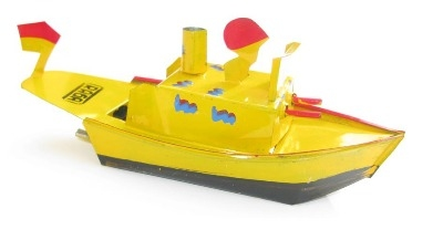 Indonesian Pop Pop Gun Boat - Yellow.