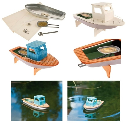 pop pop fishing boat build paint sail