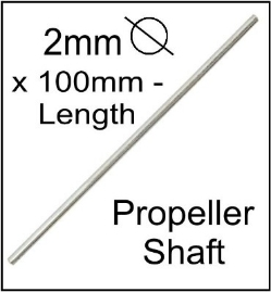 2mm dia. propeller shaft.