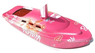 Rum Runner Pop Pop Boat Recycled Tin.