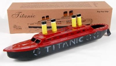 Titanic Pop Pop Boat. Hand Painted Model