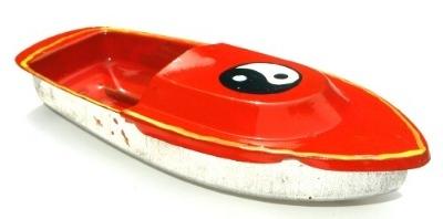 Avon 555 Pop Pop Boat - Ying Yang. Orange