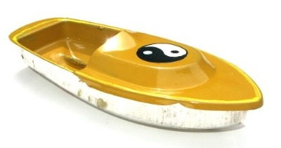 Avon 555 Pop Pop Boat - Ying Yang. Yellow.