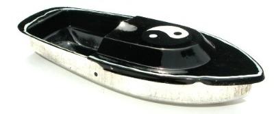 Avon 555 Pop Pop Boat - Ying Yang. Black