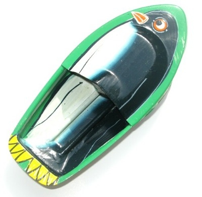 Avon 555 Pop Pop Boat - Penguin - Green.
