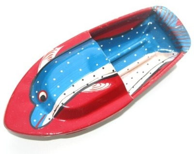 Avon 555 Pop Pop Boat - Dolphin - Red.