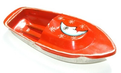 Avon 555 Pop Pop Boat - Moon. Orange.