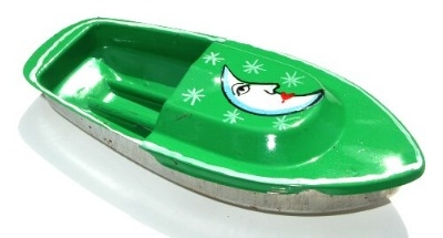 Avon 555 Pop Pop Boat - Moon. Green.