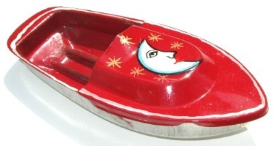 Avon 555 Pop Pop Boat - Moon. Red.