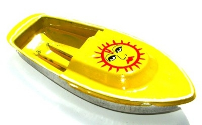 Avon 555 Pop Pop Boat - Sun. Yellow.