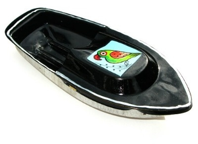 Avon 555 Pop Pop Boat - Parrot Design - Black.