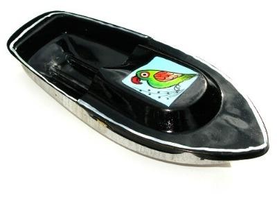 Avon 555 Pop Pop Boat - Parrot Design - Black.