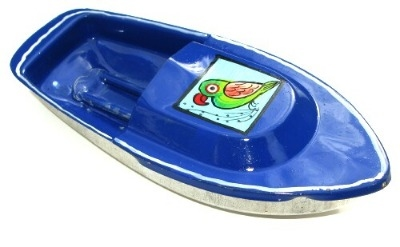 Avon 555 Pop Pop Boat - Parrot Design - Blue.
