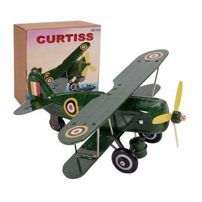 Collectable Tin Curtiss Toy Biplane