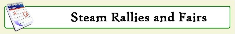 steam fairs and rallies