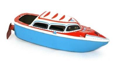 West German Pop Pop Boat. 1950's.