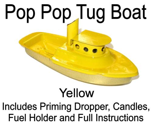 Pop Pop Boat - Tug - Yellow.