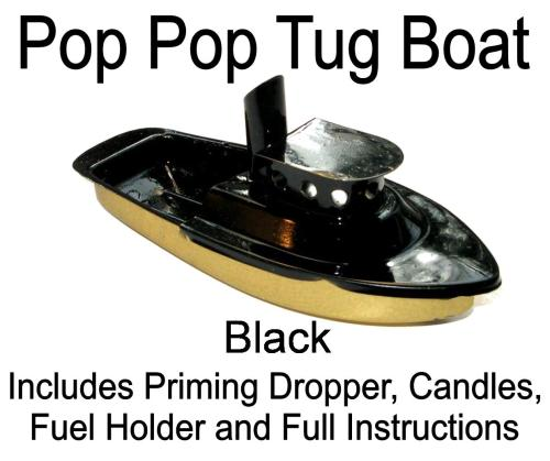 Pop PopTug Boat - Black