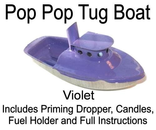 Pop Pop Boat - Tug - Light Violet.
